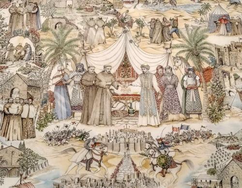 San Francesco incontra il Sultano, dettaglio