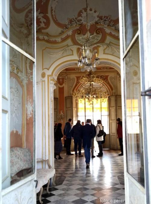 Il salone delle feste: il Conte Carlo Ceriana Mayneri era uno dei fondatori della Fiat