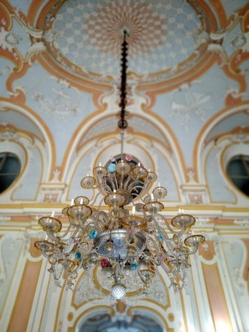 Dettagli del salone nobile, molto richiesto per matrimoni