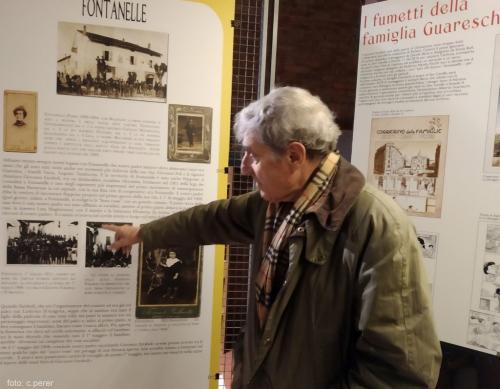 Alberto Guareschi figlio dello scrittore conserva l'archivio del padre (foto cperer)