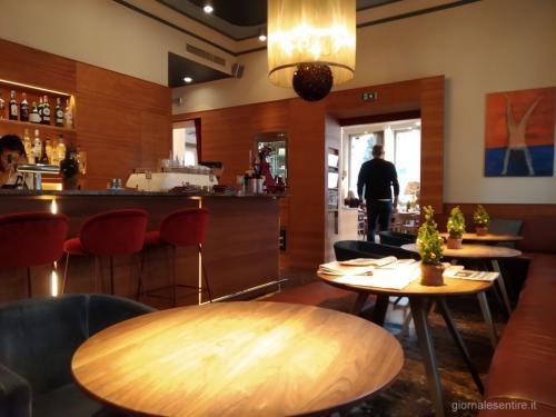 La Lounge dell'Hotel Auersperg (le foto sono di giornalesentire.it)