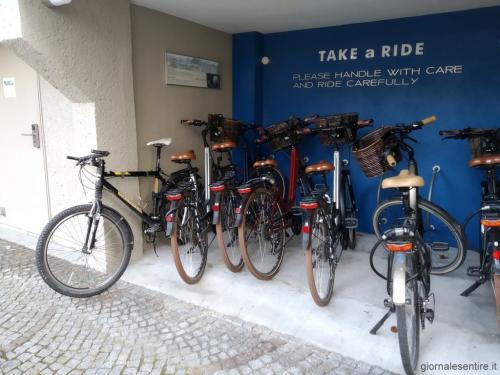 L'hotel mette a disposizione le bici per girare Salisburgo che è ottimamente servita da piste ciclabili