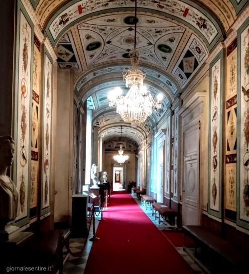 Nella Galleria delle Grottesche sembra di entrare in un corridoio enciclopedico dove vengono rappresentati centinaia di volatili tutti differenti l'uno dall'altro.