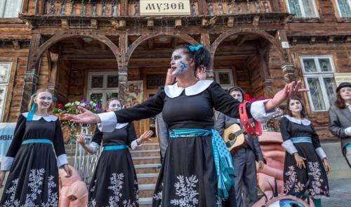 Folklore a Truskavets, città della salute