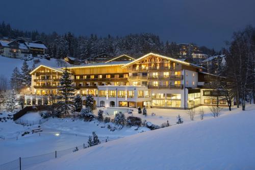 L'hotel si trova a Mosern e domina la vale che si apre dopo l'esteso altipiano a 1200 metri di altitudine che separa la località dalla vicina Seefeld nella Olympiaregion Seefeld nota per gli sports invernali