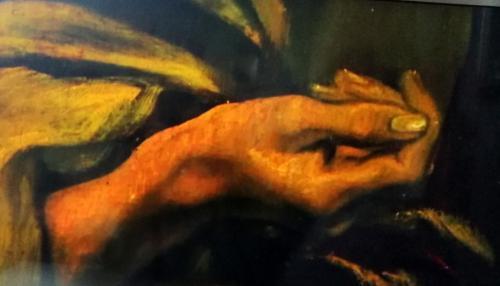 dettagli: le mani di san Pietro