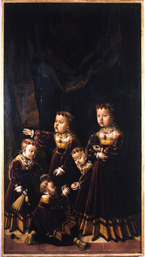 le cinque figlie di Ferdinando d'Asburgo re dei Romani