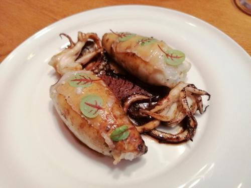 Le seppioline ripiene dello chef stellato Jorg Zupan del ristorante stellato Atelje
