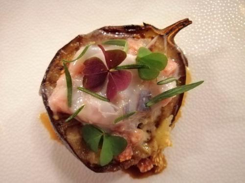 Gastronomia slovena: la melanzana ripiena di JB chef Janez Bratovz