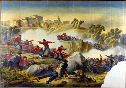 Garibaldini a Mentana oleografia - Bologna, Museo civico del Risorgimento