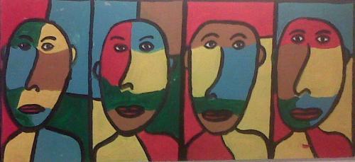 Dipingeva individui replicati e quindi omologati.