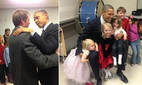 Il padre disperato arriva alla Casa Bianca