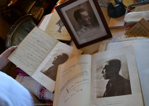 Foto, autografi, spartiti: tanta amicizia legava Zandonai ai Cipriani (foto C.Perer)