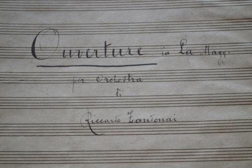 Manoscritto autografo di proprietà della Casa Editrice Cipriani (foto C.Perer)