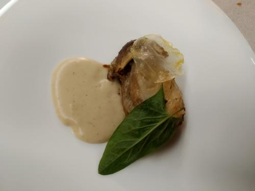 Il fungo con cristallo di patata (foto c.perer)