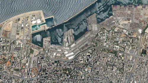Maggio 2020, questa era Beirut prima della tragedia. Le foto di questa pagina provengono da satellite.