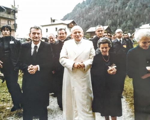 Il Papa polacco in visita a Canale d'Agordo