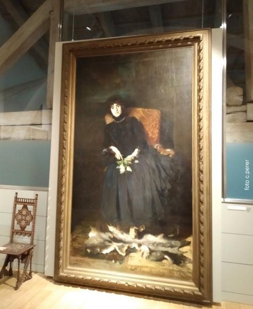 Una magnifica tela di Agazzi che  richiama in bellezza il fascino delle opere di Boldini