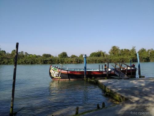 La ''Caorlina'' è  la tipica barca veneta usata per lavoro, perchè maneggevole e con spiccata capacità di carico,vogata da uno fino a sei rematori
