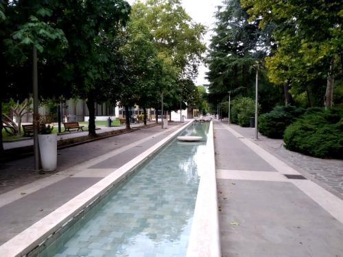 La pedonalizzazione del centro gioca sui temi dell'acqua, l'oro di Abano