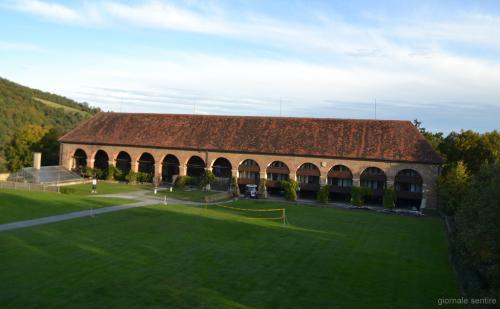 La cantina storica si trova nella parte nord del complesso e risale all'epoca barocca