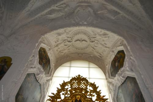 Dettaglio degli stucchi ultimo intervento apportato alla cappella nel 1681