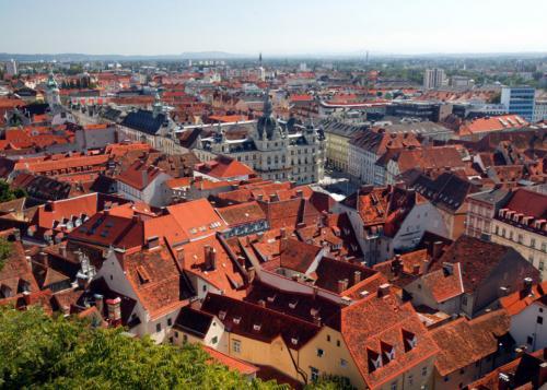 I tetti di Graz - foto Harry Schiffer courtesy by Graz Tourismus