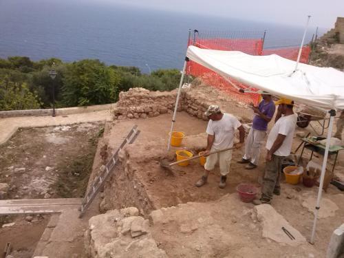 Gli scavi al Tempio di Minerva (foto corona perer)
