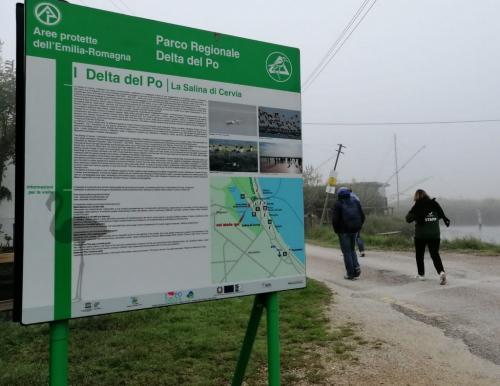 la Salina di Cervia è la porta più a sud del Parco Regionale del Delta del Po