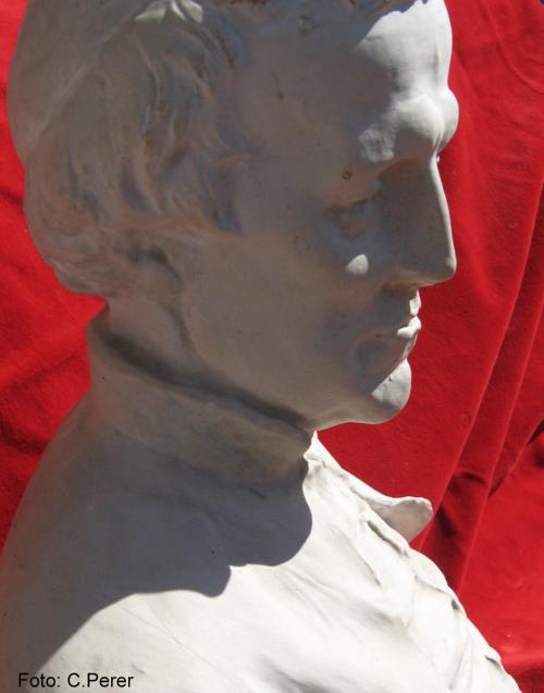 Il busto conservato dai Padri Rosminiani (foto:C.Perer)
