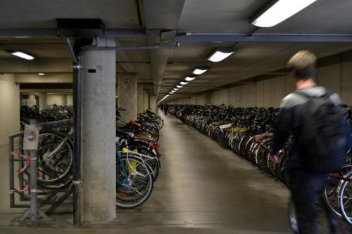 Il deposito delle bici sotto alla nuova sede municipale (foto cperer)