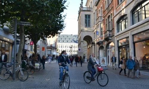 A Lovanio ci si sposta in bicicletta: città tutta da vivere (foto cperer)