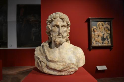 Fano: il busto del Battista di Giovan Francesco Rustici