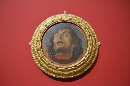 la mostra a Pesaro:la testa del Battista