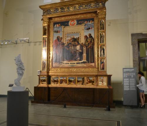 Pesaro: Giovanni Bellini ''Pala dell'incoronazione della Vergine''
