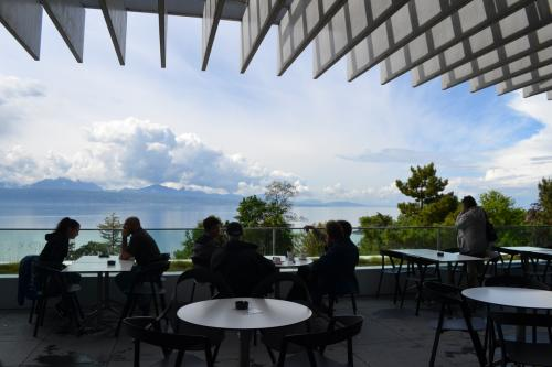 Dalla terrazza del Tom Cafè la dolcezza di Losanna e del Lago Lomano  - foto O.Galletti