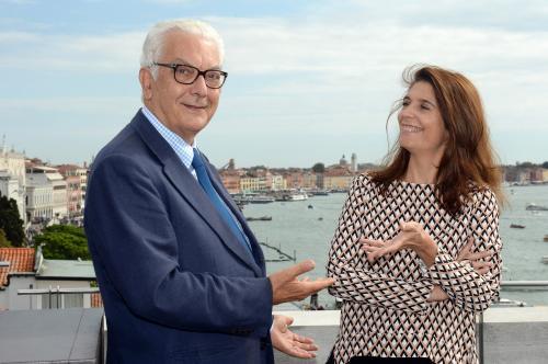 Il presidente della Biennale e la curatrice