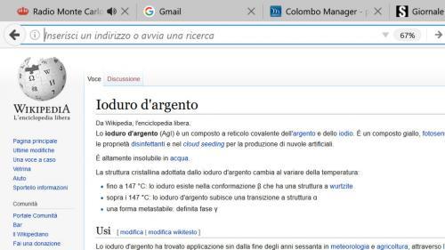 la pagina di wikipedia che spiega la funzione dello ioduro d'argento (nel testo è presente il link)