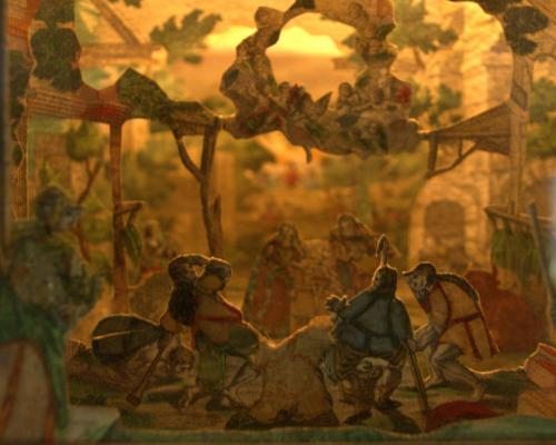 I presepi di carta nella ricca, rara e preziosa collezione di presepi rinascimentale