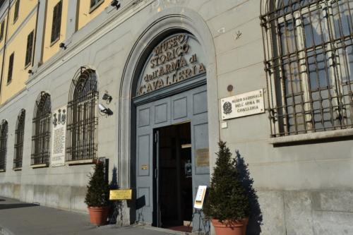 l'ingresso del Museo Storico dell'Arma di Cavalleria a Pinerolo