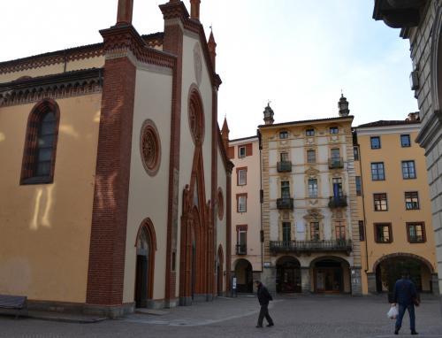 Piazza San Donato, il salottino di Pinerolo