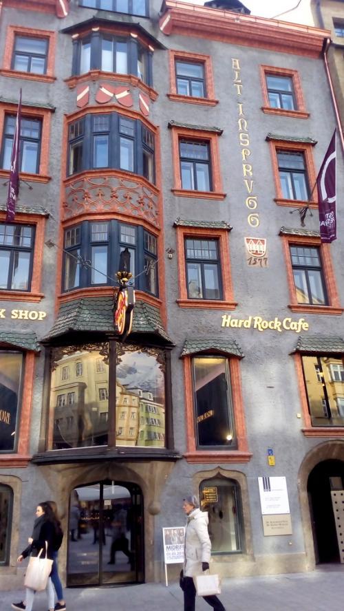 L'Hard Rock Cafè di Innsbruck in Marietheresienplatz