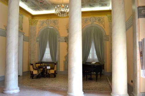 Gli interni di Villa Angiolina, oggi sede del Museo del turismo croato (foto C.Perer)