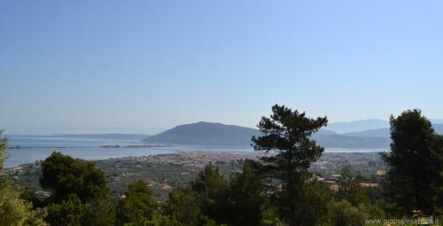 Vista su Lefkada dalla collna di Faneromeni