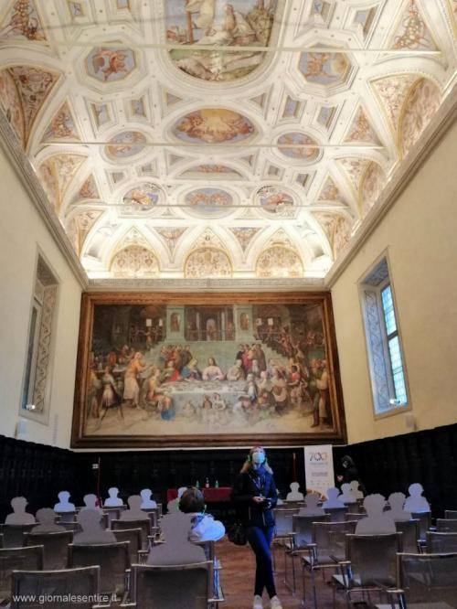 Tra le tappe anche il Museo del Mosaico Tamo e la Biblioteca Cassense (nella foto)