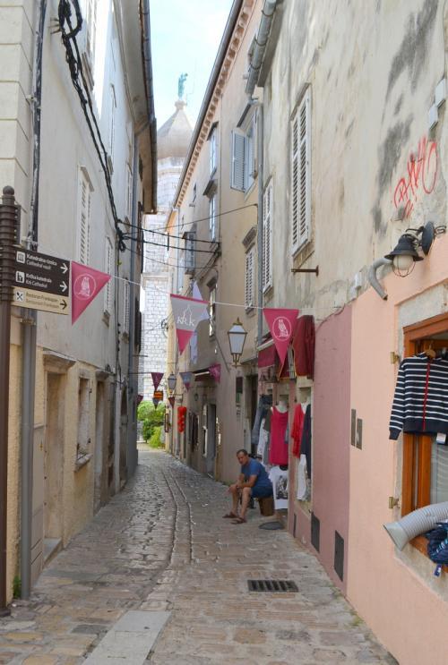 Il centro storico di Krk chiamata anche isola di Veglia