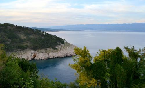 Le spiagge croate: nella foto quella di Vrbnik, nota per i suoi vigneti