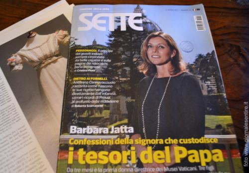 Orgoglio di famiglia: la pronipote Barbara Jatta attuale direttice dei Musei Vaticani (Foto: C.Perer)