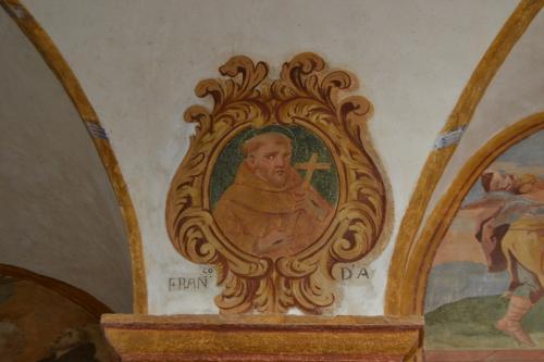 L'ex convento dei frati Minori Osservanti con il ciclo di affreschi dedicato a San Francesco
