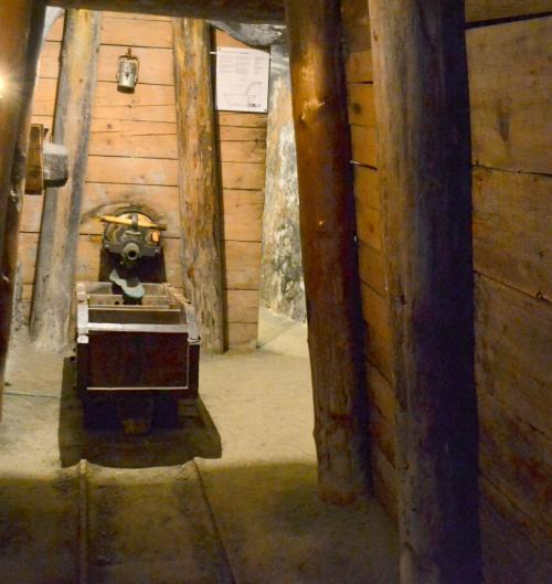 La miniera di sale: ricostruzione visitabiie dai turisti